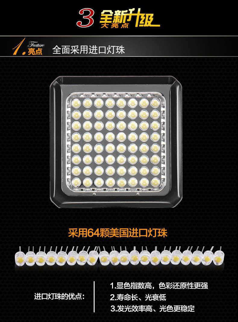 Tolifo图立方PT-64魅影LED机顶补光灯64颗灯珠