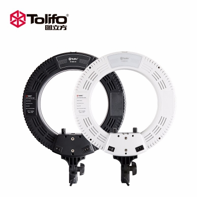 Tolifo图立方R40B环形LED直播补光灯双色温40W