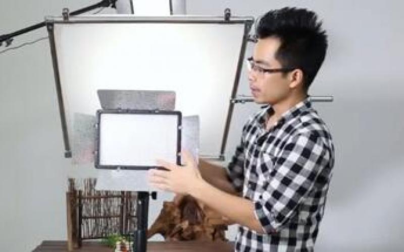 LED摄影灯PT-680使用视频