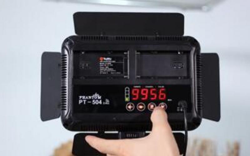图立方LED摄影灯PT-504使用视频